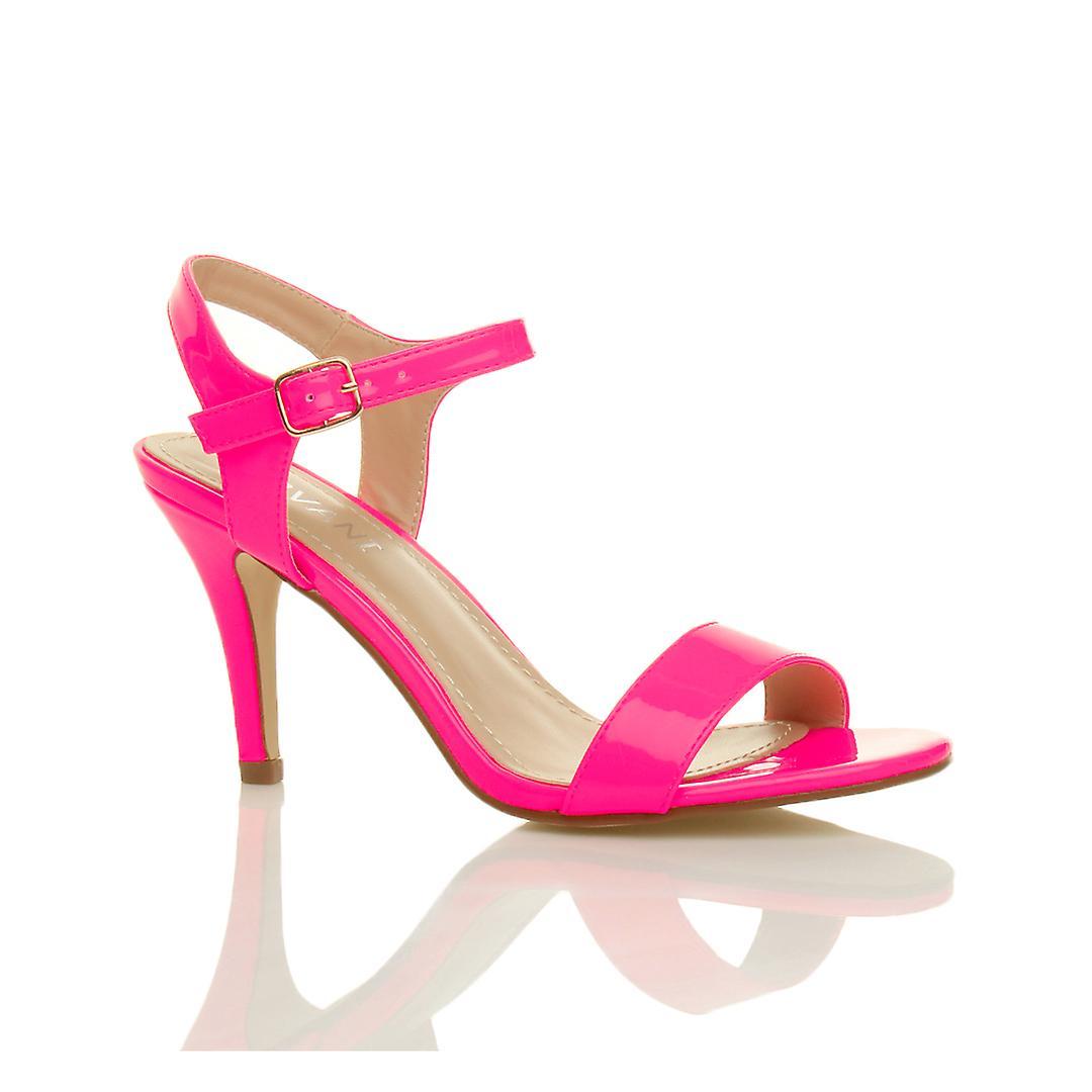 Ajvani Womens Mitte niedrige high-Heel Riemchen kaum feiern gibt es Hochzeit Prom Sandalen Schuhe