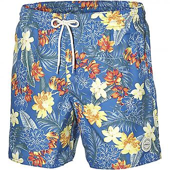 O'Neill Bondi Floral Print Swim Shorts, Blue/orange
