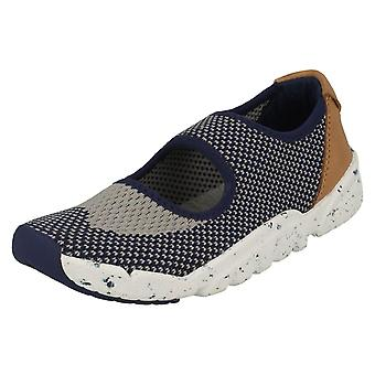 Childrens Boys Girls Clarks Casual Slip On Trainers Tri Shore