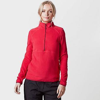 Pink Peter Storm Women's Half Zip Striped Micro Fleece