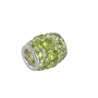 Shipton and Co Ladies Shipton And Co Silver And Peridot Charm DQA243PE