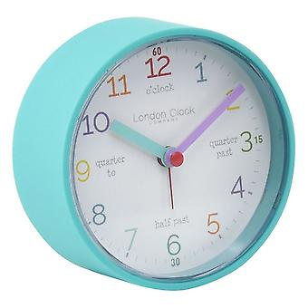 9 cm Kids Tell The Time Alarm Clock Teal