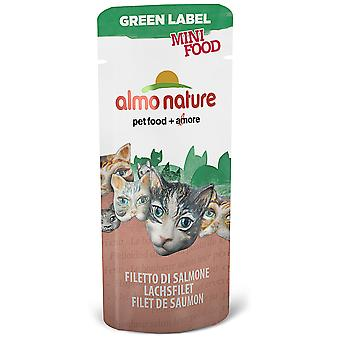 Almo nature Cat Green Label Mini Food Filete de Salmon (Cats , Cat Food , Wet Food)