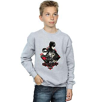 DC Comics Boys Batman TV Series Character Skyline Sweatshirt