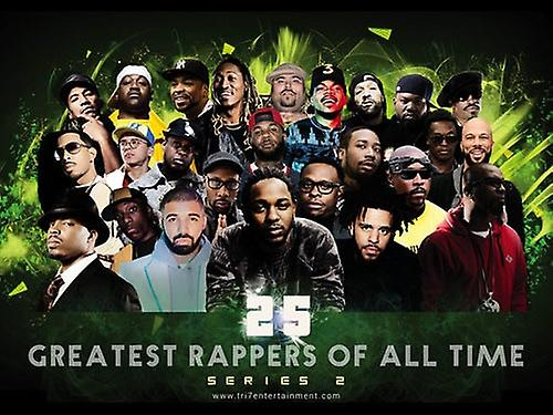 25 Greatest Male Rappers of All Time Poster (Series 2) (24x18)