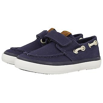 Gioseppo Boys 40324 Cowens Canvas Boat Shoes Navy