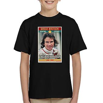 Sporting Legend Poster UK Barry Sheene Bionic Man World Motor Cycle Champion 1977 Kid's T-Shirt