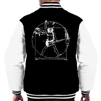 Vitruvianische Mensch Guitar Player Männer Varsity Jacket