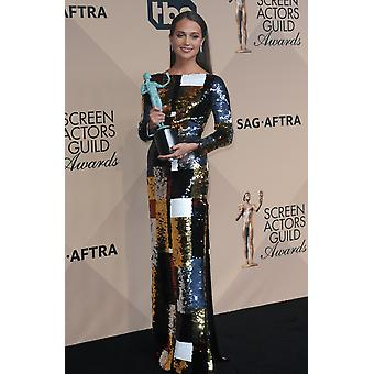 Alicia Vikander Outstanding Performance By A Female Actor In A Supporting Role For The Danish Girl In The Press Room For 22Nd Annual Screen Actors Guild Awards - Press Room Shrine Auditorium Los Angel