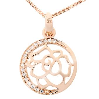 Orphelia Silver 925 Chain With Pendant Flower Rosegold Plated Zirconium  ZH-7089/1