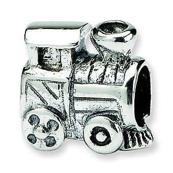 Sterling Silver Antique finish Reflections SimStars Kids Train Bead Charm