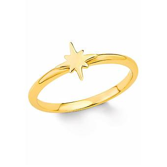 señoras de s.Oliver joya anillo plata oro tan puro estrella 201996