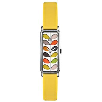 Orla Kiely Womens tige or cas sangle jaune OK2158 Watch