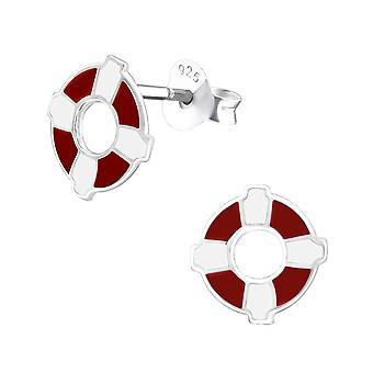 Buoy - 925 Sterling Silver Colourful Ear Studs - W26286x