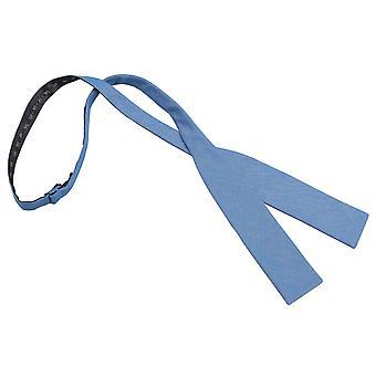 Paris Blue Chambray Baumwoll Batwing selbst Krawatte Bow Tie