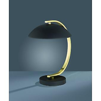 Trio Lighting Retro Classic Black Matt Metal Table Lamp