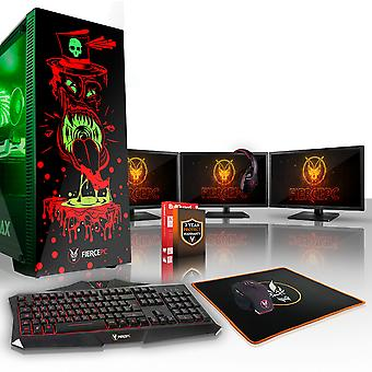 Feroce GOBBLER Gaming PC, veloce processore Intel Core i5 8600 K 4,5 GHz, 1 TB HDD, 16 GB di RAM, RTX 2080 8 GB