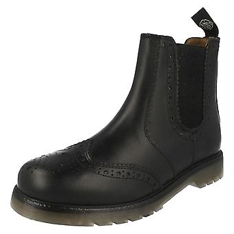 Mens Catesby Pull On Brogue Style Boots 01800