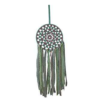 Pink and Blue Lace Fringe Boho Chic Dream Catcher