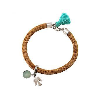 Vrouwen - armband - 925 zilver - edelsteen - Aqua Chalcedoon - Angel - groen - bruin
