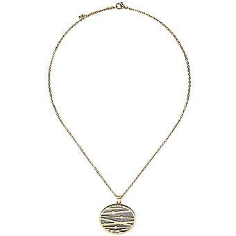 Necklace Ketting 47 cm gecoat met hanger roestvrij staal goud kleuren