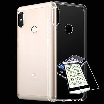 Für Xiaomi Mi A2 Lite / Redmi 6 Pro Silikoncase TPU Transparent + 0,3 H9 Glas Tasche Hülle Schutz Cover