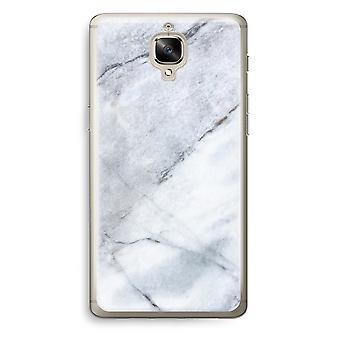 OnePlus 3T Transparent Case (Soft) - Marble white