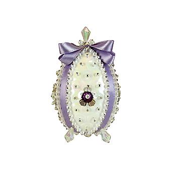 Pinflair Sequin & Pin Lilac Carnation Faberge-Style Easter Egg