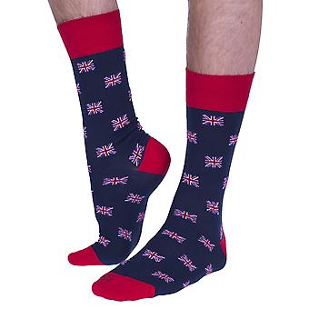 The Union Jack luxury cotton dress sock in ensign | Made in Wales by Corgi