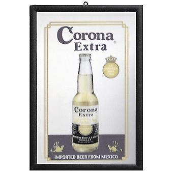 Corona Spiegel  Wandspiegel mit schwarzer Kunststoffrahmung in Holzoptik.