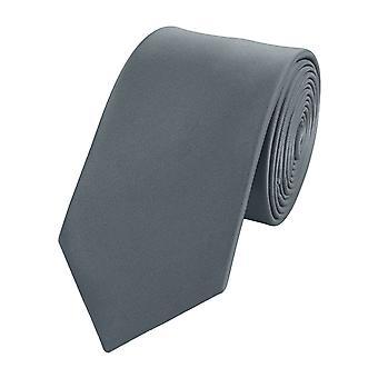 Schlips Krawatte Krawatten Binder 6cm grau anthrazit Fabio Farini  n grau - anthrazit