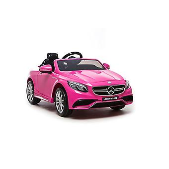 Licensed Mercedes Benz S63 AMG 12 Volt Ride On Car EVA Tyres Pink