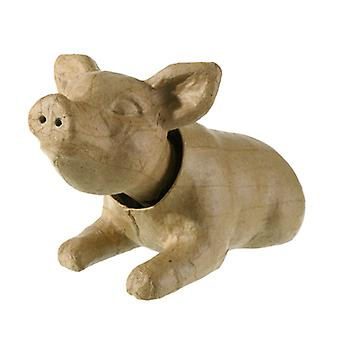 Paper Mache Nodding Head Pig for Crafts - Bobble Wobble Heads