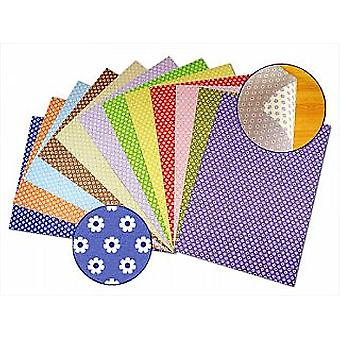 12 Mixed Flower 2-Sided A4 Card Sheets for Crafts | Coloured Card for Crafts