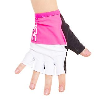 POC Fluorescent Pink-Hydrogen White 2016 Raceday Fingerless Cycling Gloves