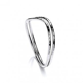 Cavendish French Sterling Silver Hammered Double Bangle