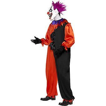 Cirque Sinister beängstigend Bo Bo Clownskostüm, Brust 38