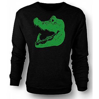 Mens Sweatshirt Cool Aligator Crocodile - Cool Graphic Design