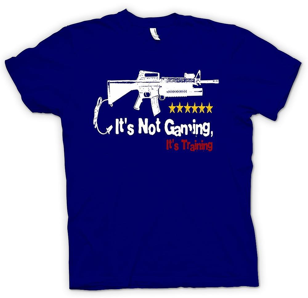 Mens t-skjorte - det er ikke spill det er trening - morsomt
