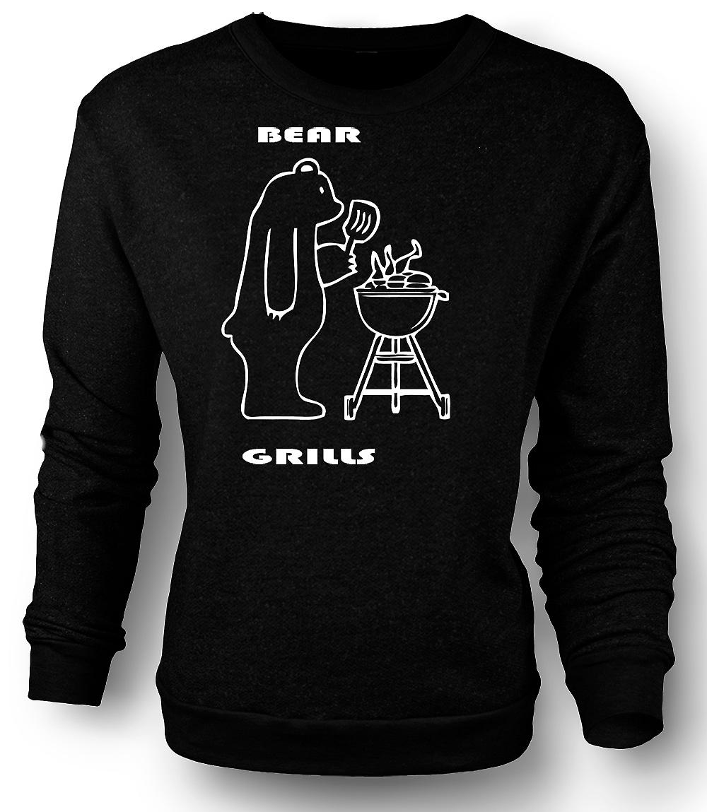 Mens Sweatshirt Björn barbeque - citat