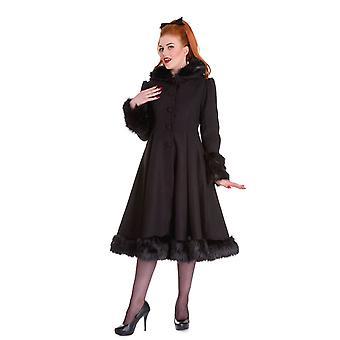 Hell Bunny Black Hooded Elvira Coat S