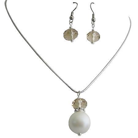 Dainty Cute Elegant Bridesmaid Jewelry Lustrous Pearls Crystals