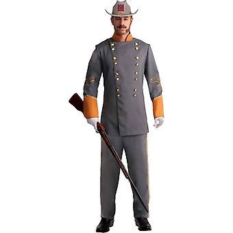 Officer Konföderierten Erwachsenen Kostüm