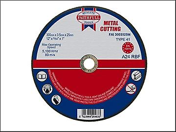 Faithfull Cut Off Disc for Metal 300 x 3.5 x 25mm
