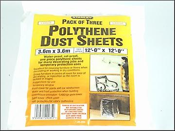 Stanley Tools Polythene Dust Sheets 3.6 x 3.6m (3)
