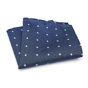 Light & dark blue mixed ditsy dot spot pocket square
