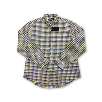 Ralph Lauren Polo slim fit shirt in blue and yellow check