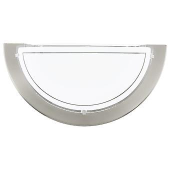 Eglo Planet 1 væg lys i Satin nikkel og hvidt glas