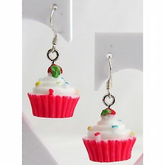 Cupcake Ohrringe Hypoallergen Ohrringe Erdbeere Sprinkle Ohrringe