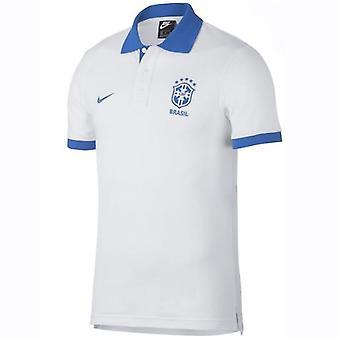2019-2020 Brazil Nike Polo Shirt (White)